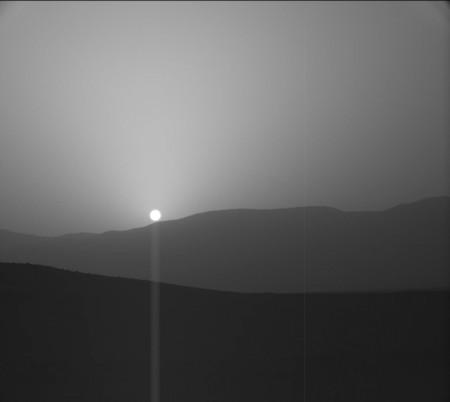Una puesta de Sol marciana: así captura la NASA el ocaso en el Planeta Rojo