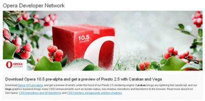Opera 10.50 pre-alpha ya está disponible oficialmente (¡y con Carakan!)