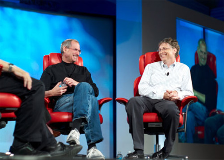 Steve Jobs y Bill Gates