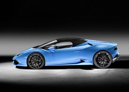 Lamborghini Huracain Spyderlp 610 4 Side View Closed