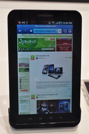 Xataka en el navegador del Galaxy Tab