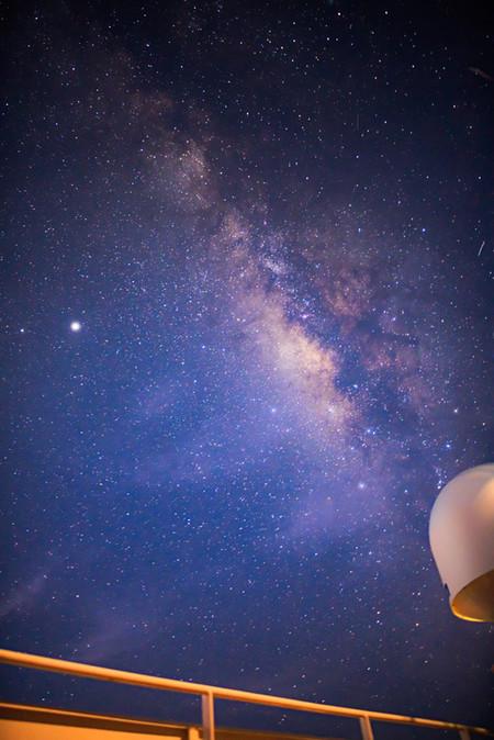 Milky Way And Satellite Radome