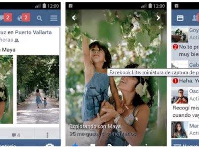 Facebook Lite para Android gana funciones multimedia para ser más útil