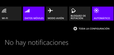 Ahora podemos activar/desactivar los datos móviles desde el Action Center en la última Preview for Developers