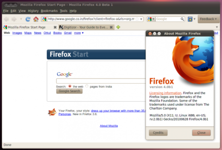 Ubuntu 10.10 ya acepta Firefox 4