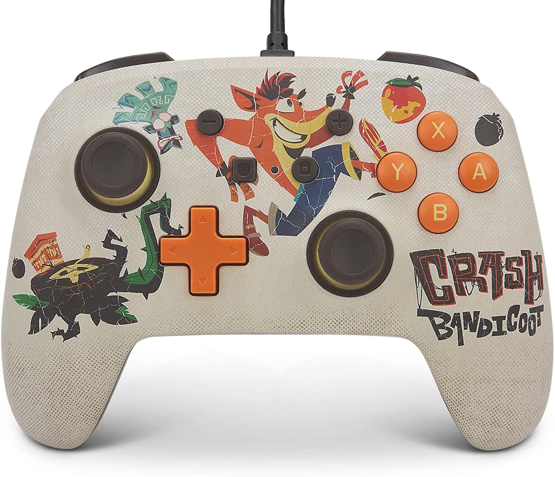 Control alámbrico PowerA de Crash Bandicoot para Nintendo Switch