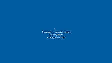 Windows 10 Actualizando
