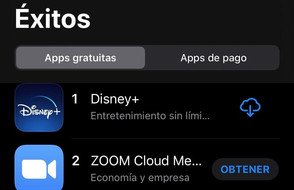Así ha cambiado la lista de éxitos de la App Store tras la llegada del coronavirus