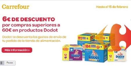 6 euros de descuento en productos Dodot en Carrefour