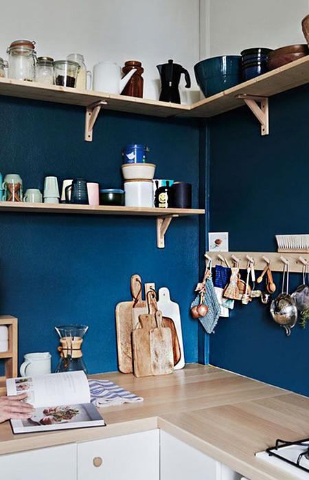 Pared Azul Cocina 4