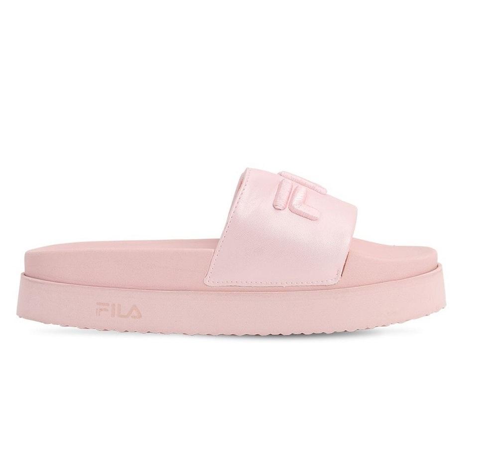 Chanclas con plataforma en rosa millennial de Fila