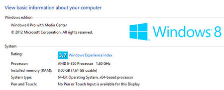 Indice Experiencia de Windows
