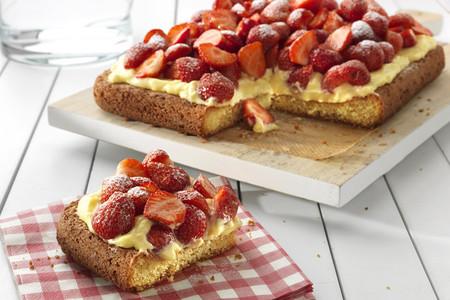 Receta de tarta de fresas con margarina Tulipán