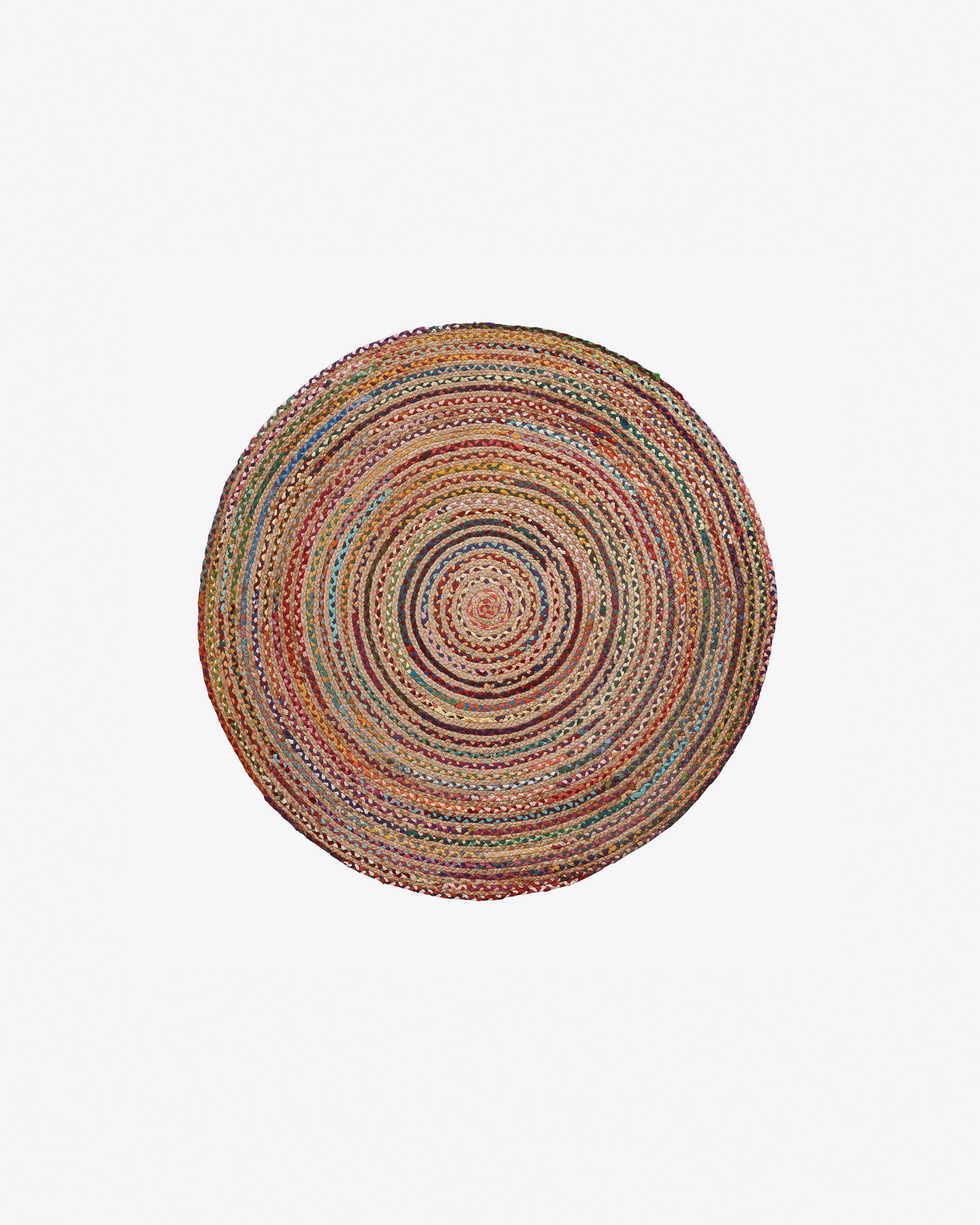 Alfombra de yute multicolor