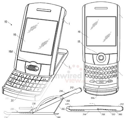 Blackberry Táctil más cerca y móvil con pantalla extraíble