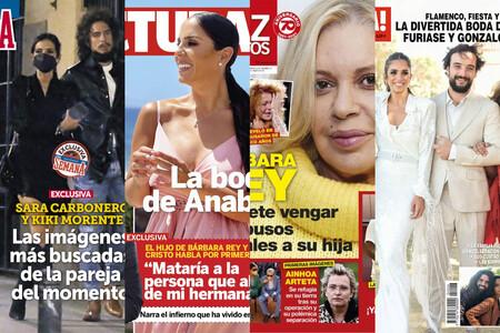La boda secreta de Anabel Pantoja, la venganza de Bárbara Rey y la cita romántica de Kiki Morente y Sara Carbonero: estas son las portadas del miércoles 22 de septiembre