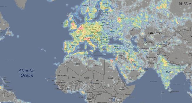 Busca las zonas con la menor contaminación lumínica gracias a este mapa interactivo