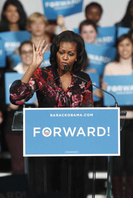 Michelle Obama campaña
