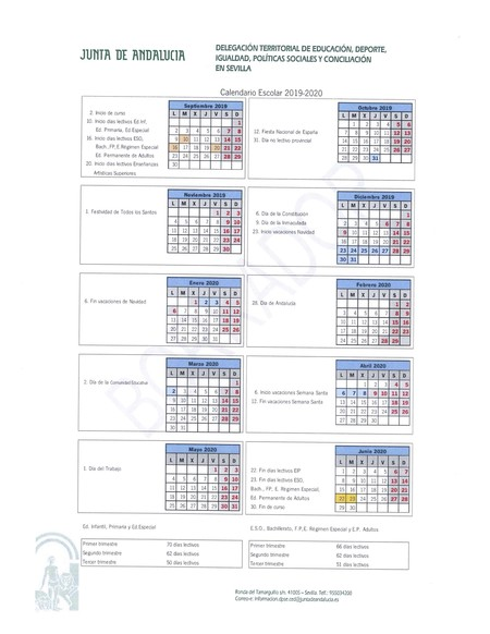 Calendario Escolar Cantabria 2020.Calendario Escolar 2019 2020 Que Dia Empiezan Y Terminan