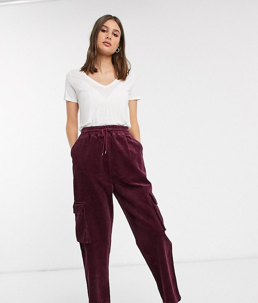 Pantalón de pana de estilo jogger con cintura elástica