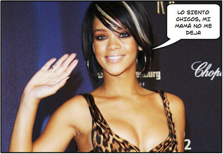 "Rihanna: ""de desnudarme, nanay"""