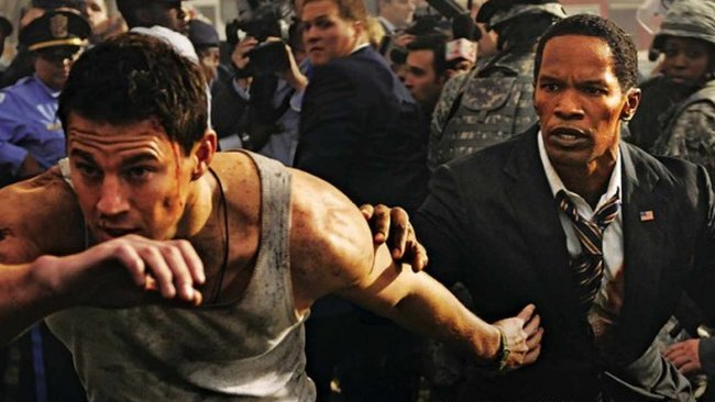 Channing Tatum y Jamie Foxx en White House Down