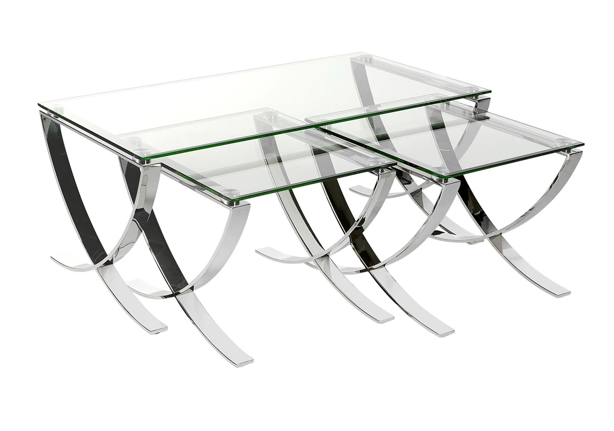 Set 1 coffee table + 2 auxiliary tables