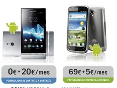 Sony Xperia P, Motorola Razr Maxx y Huawei Ascend G300 entre las novedades de Yoigo para junio