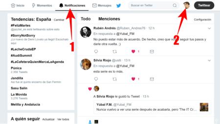 Configuracion De Notificaciones En La Web De Twitter