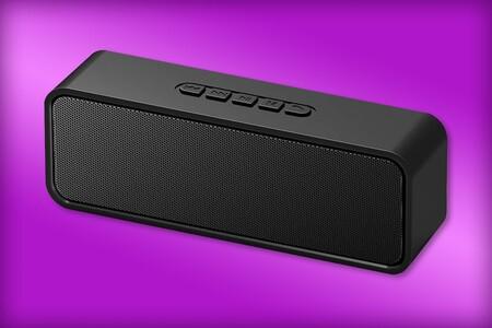 Bocina Bluetooth de oferta por 299 pesos en Amazon México: hasta ocho horas de batería, puerto USB y lector microSD