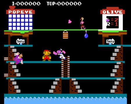 El 'Donkey Kong' que dió vida a Super Mario podría haber sido un juego sobre Popeye