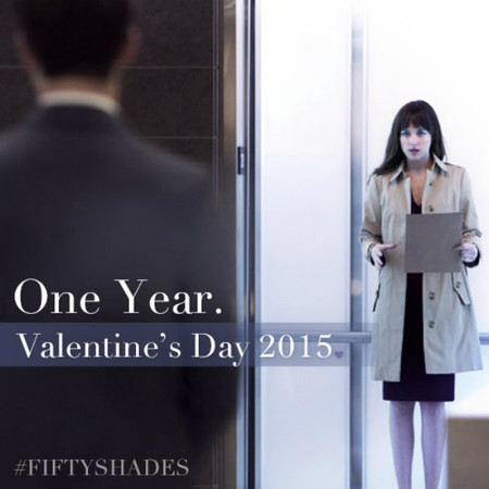 Y por San Valentín, de regalo, una foto de Anastasia Steele