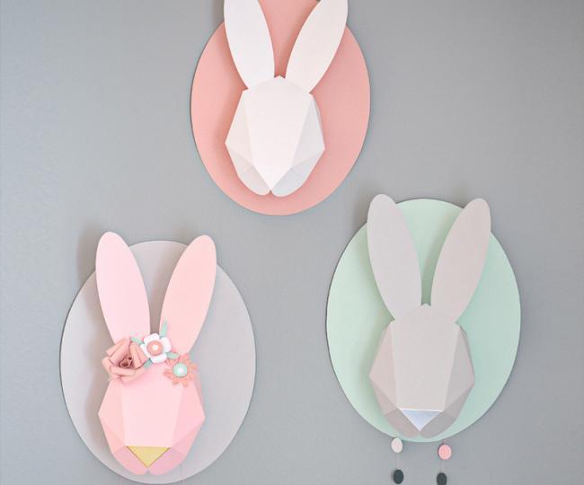 Piezas b sicas para el dormitorio de tu beb con los - Cabezas de animales decoracion ...