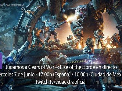 Streaming de Gears of War 4: Rise of the Horde a las 17:00h (las 10:00h en Ciudad de México)