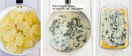 Pastel Papas Espinacas Receta