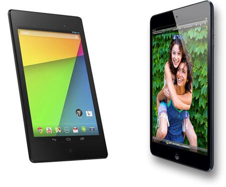 Nuevo Nexus 7 contra iPad Mini, comparativa