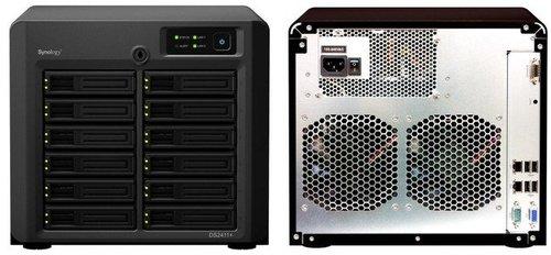 SynologyDiskStationDS2411+,unNAScon36TBdeespacioparatusdatos