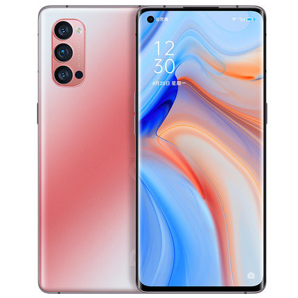 Image of OPPO Reno4 product sheet on TMall