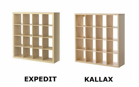 Adi s estanter a expedit hola estanter a kallax - Medidas estanteria expedit ...