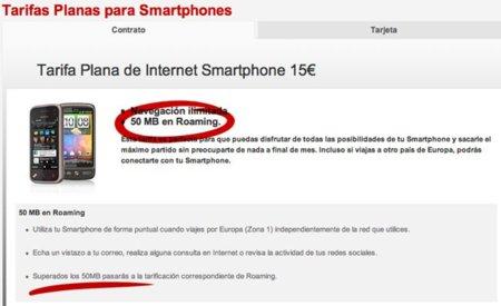 iPhone Vodafone roaming 50MB gratis estafa