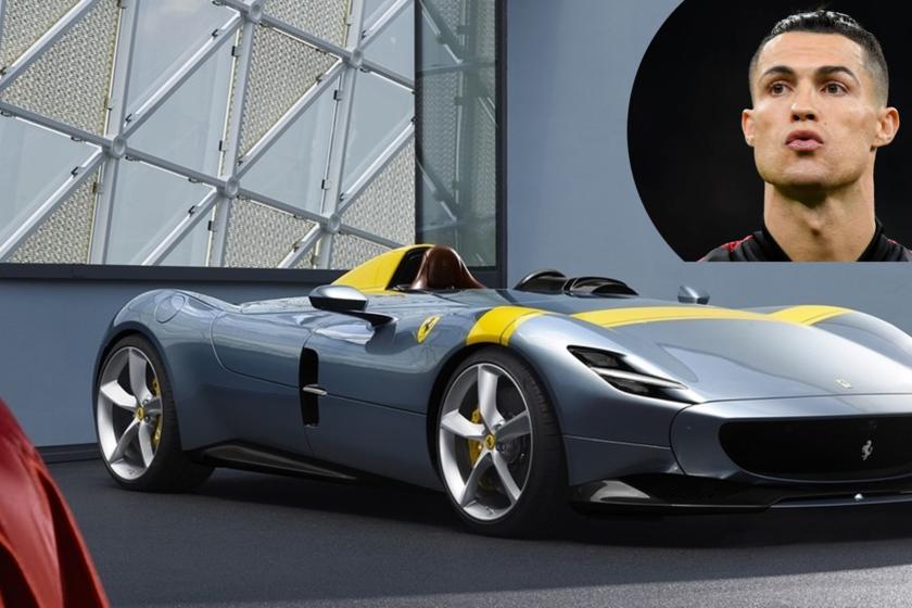 ¡Otra joya! Cristiano Ronaldo añade un Ferrari Monza SP, de 810 CV y 1,6 millones de euros, a su colección de superdeportivos