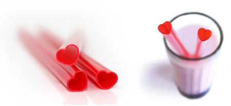 Pajitas con forma de corazón 2
