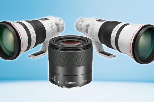 Canon EF 400 mm f/2,8L y EF 600 mm f/4L IS III USM, y EF-M 32 mm f/1,4 STM, nuevos objetivos para réflex y sin espejo