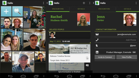 Evernote Hello llega a Android con LinkedIn integrado