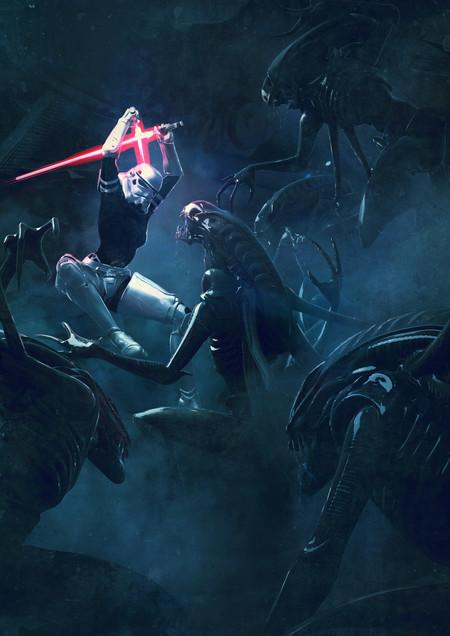 Guillem H Pongiluppi Guillemhp 501 Legion Stormtroopers Vs Aliens Detail 2