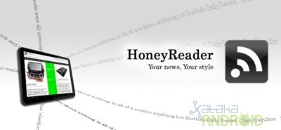 HoneyReader, un cliente de Google Reader exclusivo para tablet con Honeycomb