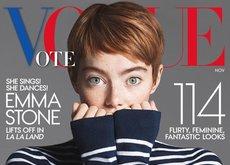 El pixie en Vogue de Emma Stone se convierte en el protagonista de las revistas de noviembre