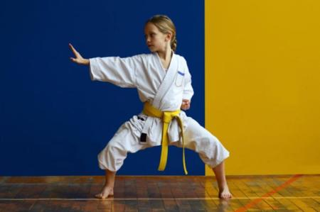 niña artes marciales