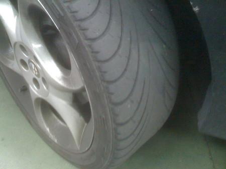 Neumático al final de su vida útil