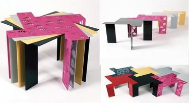 Mini mesas coloristas de Kirsty White